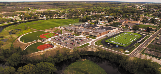 Aerial photo of district