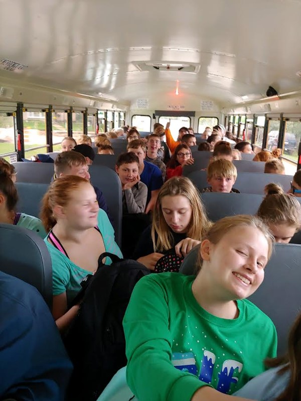 9/18/18 - Our 8th grade students on their way to the CAVES at Ledgeview Nature Center