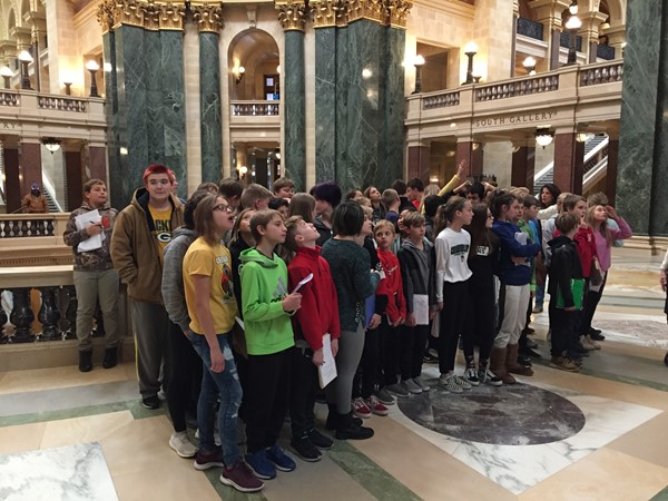 7th Grade Field Trip to Madison on 11/1/19
