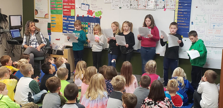 K-2 Students Present Stories to their class