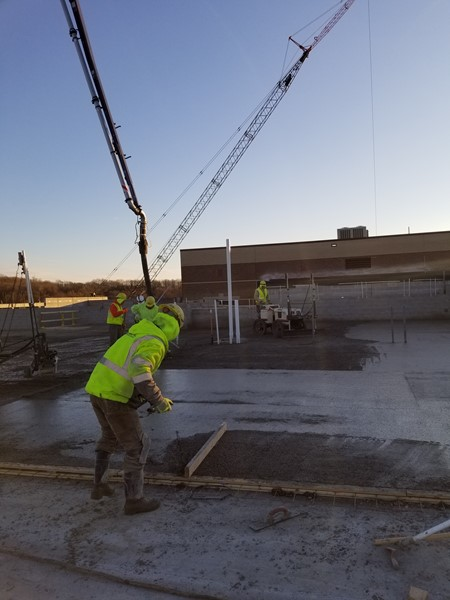 2nd floor concrete pour